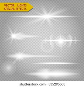 Special line flare light effects for design and decor
