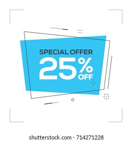 Special Offer 25% off Concept