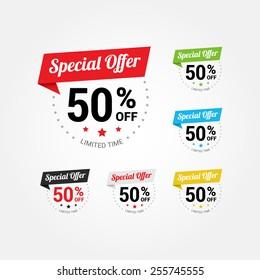 Special Offer 50% Labels Set