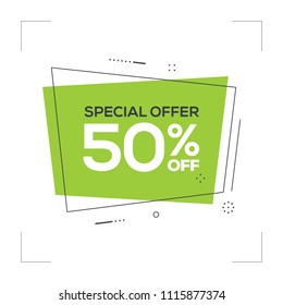 Special Offer 50% off Concept