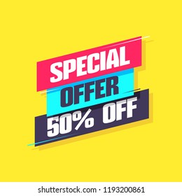 Special Offer 50% Off Label