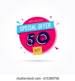 Special Offer 50% Off Label