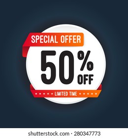 Special Offer 50% Off Round Sticker