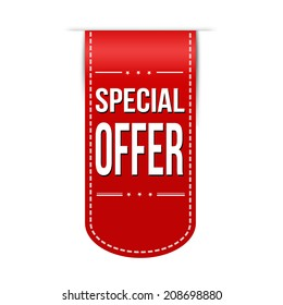 Special offer banner design over a white background, vector illustration