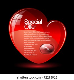 Special Offer Banner Banner in the form of heart