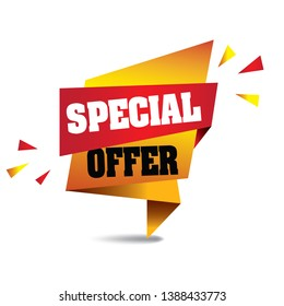 Special Offer Banner vector format