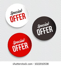 Special offer banners. Vector illustration.