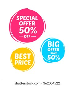 Special Offer, Big Offer & Best Price Marks