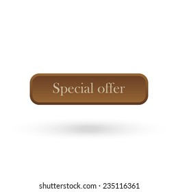 Special offer brown vector button for a site