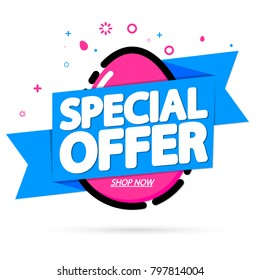 Special Offer, Easter sale tag, banner design template, discount app icon, vector illustration