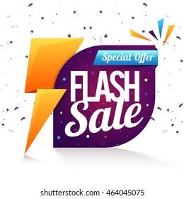 Special Offer, Flash Sale Poster, Banner or Flyer design, Creative vector illustration.