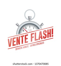 Special Offer French Chrono Time Label