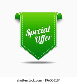 Special Offer Green Label Icon Vector Design