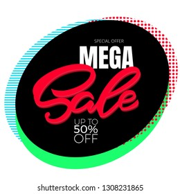 Special offer mega sale poster template vector design