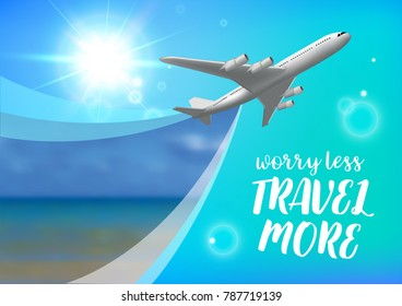 Special offer on business Travel. Business trip banner. Air travel concept. Business travel illustration.