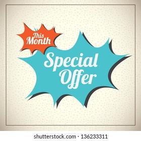 Special offer over vintage background vector illustration