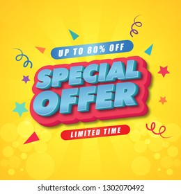 Special Offer Poster Template Design