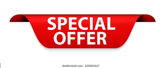 Special Offer Red Label Vector Illustration EPS10
