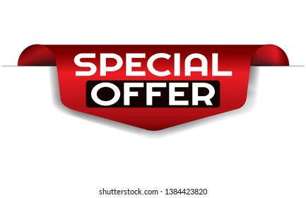 Special Offer red vector banner