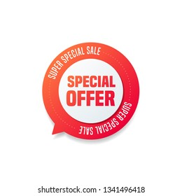 Special Offer Round Shopping Label