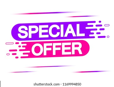 Special Offer, Sale banner, discount tag design template, app icon, vector illustration