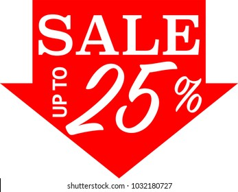 Special offer sale red tag isolated vector illustration. Discount offer price label, symbol for advertising campaign, Label to promote marketing. Attracting signs.