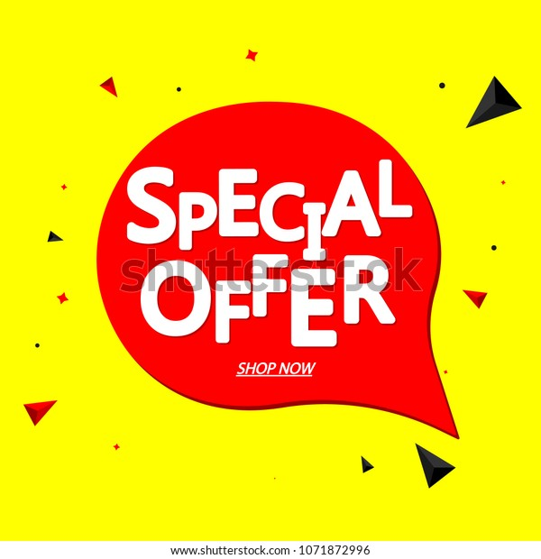 Special Offer Sale Speech Bubble Banner Stock Vector