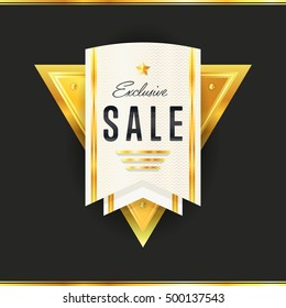 Special offer sale tag discount symbol retail sticker sign price isolated modern graphic style vector. Isolated special offer sticker vector icon. Discount sticker or sale tag icon. Market offer