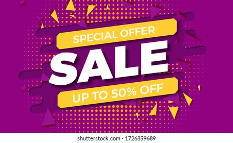 special offer sale template. banner sale. shopping promotion. vector illustration
