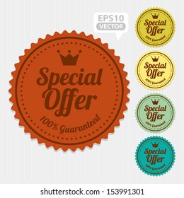 Special Offer Sticker and Tag Vintage - Vector