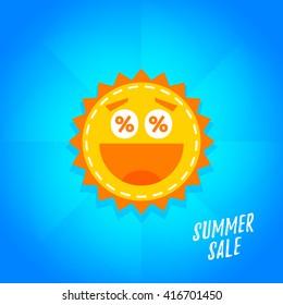 Special offer summer sticker. Promotion tag. Sale Banner, Poster, Flyer illustration