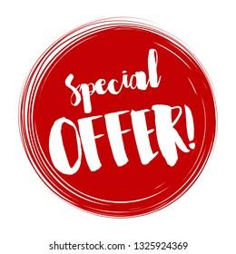 Special offer tag, Vector illustration. Special offer tag design