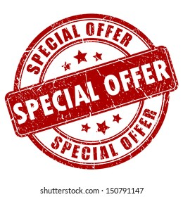 Special offer vector stamp
