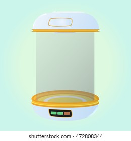 Special place for eggs. Incubator for eggs. Hatchery without egg. Vector illustration.