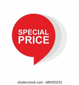 Special price  background vector