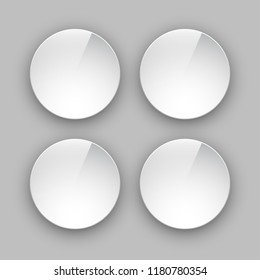 Special Round Offer Isolated on gray background. Vintage Sticker. Origami paper infographic colorful banners set. Annotation circle buttons. Advertising Design shape. Speech talking cloud label tag