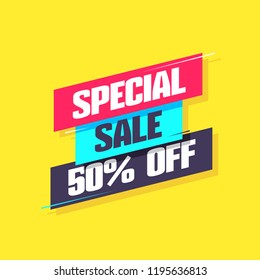 Special Sale 50% Off Label