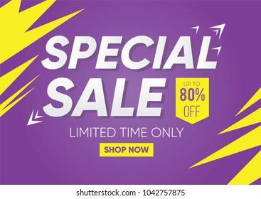 Special Sale Banner or Sale Poster Design.