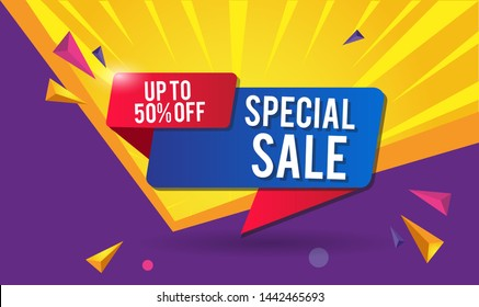 Special Sale Design for business for business. Discount Banner Promotion Template