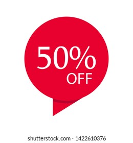 Special sale discount sticker vector design illustration isolated on white background