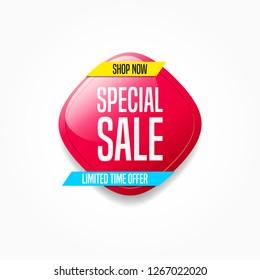 Special Sale Shop Now Label