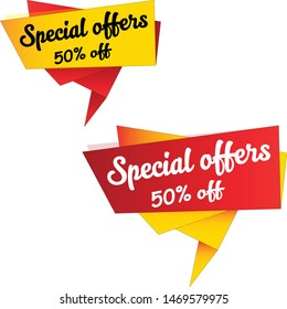 special sale tag design vector illustration and discount sticker design