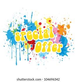 Special summer offer banner, holiday offer concept, vector illustration