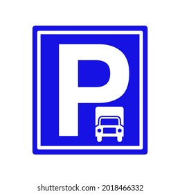 special truck parking vector, letter p for parking ikon icon