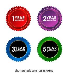 special vector guarantee sign, warranty label