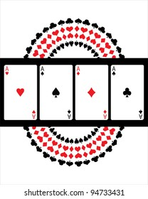 special vector poker background