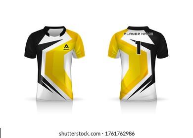 Specification Soccer Sport mockup , Esports Gaming T Shirt Jersey template. mock up uniform . Vector Illustration design