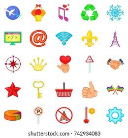 Specimen icons set. Cartoon set of 25 specimen vector icons for web isolated on white background