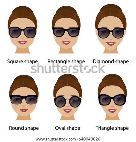 48c24eaf4d Spectacle frames shapes and different types of women face shapes. Face types  as oval