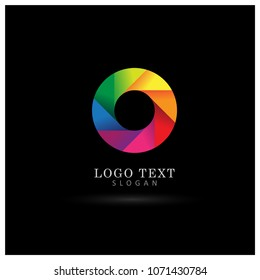 Spectrum Colorful Circle Logo. Symbol & Icon Vector Template.